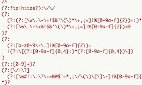 Regular expressions text
